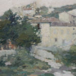 G.A. Morawetz 'Gigondas, Chemin à la Gardette', 1960, olieverf op paneel, 50 x 61 cm, h x b