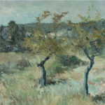 G.A. Morawetz, Amandiérs près de Fontvieille, 1962 , olieverf op linnen, 54 x 65 cm h x b