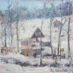 G.A. Morawetz, Berneck, Am Dorfrand, olieverf op linnen, 60 x 45 cm h x b