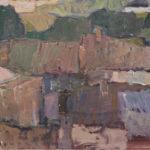 G.A. Morawetz, Couvreurs à Gigondas, 1963, olieverf op paneel, 38 x 55 cm h x b