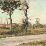 G.A. Morawetz, Le chemin de Tarascon, 1959, olieverf op paneel, 54 x 65 cm h x b