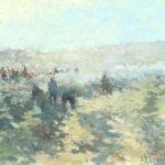 G.A. Morawetz, Les Vendanges Vertes, 1961, olieverf op paneel, 60 x 73 cm h x b