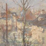 G.A. Morawetz, Ludwigsburg, olieverf op paneel, 50 x 61 cm h x b