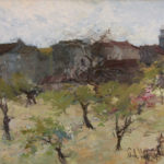 G.A. Morawetz, Maisons Anciènnes au Le Muy, olieverf op linnen, 60 x 73 cm