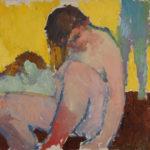 G.A. Morawetz, Nu assis, olieverf op linnen , 63 x 52 cm h x b