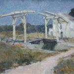G.A. Morawetz 'Brug van van Gogh - Pont Montcalde', 1959, olieverf op linnen, 50 x 65 cm h x b