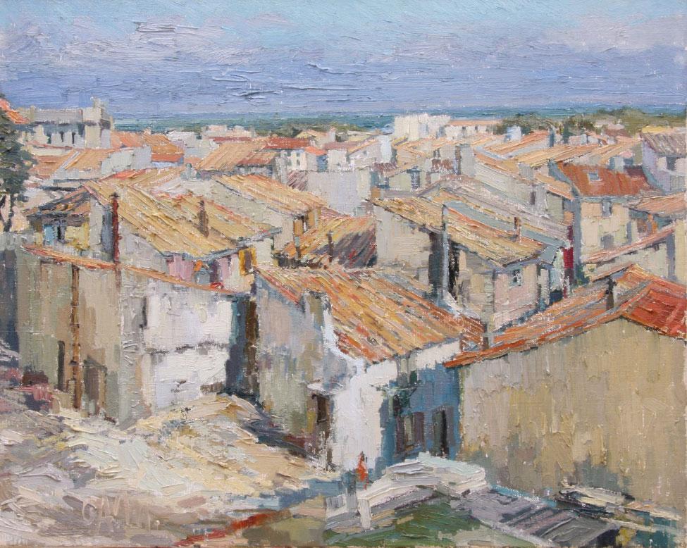 G.A. Morawetz 'Couvriers à Arles', olieverf op linnen, 65 x 81 cm h x b