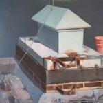 Piet Vermeulen - Luchtkoker, 1991, olieverf op linnen, 90 x 110 cm hxb